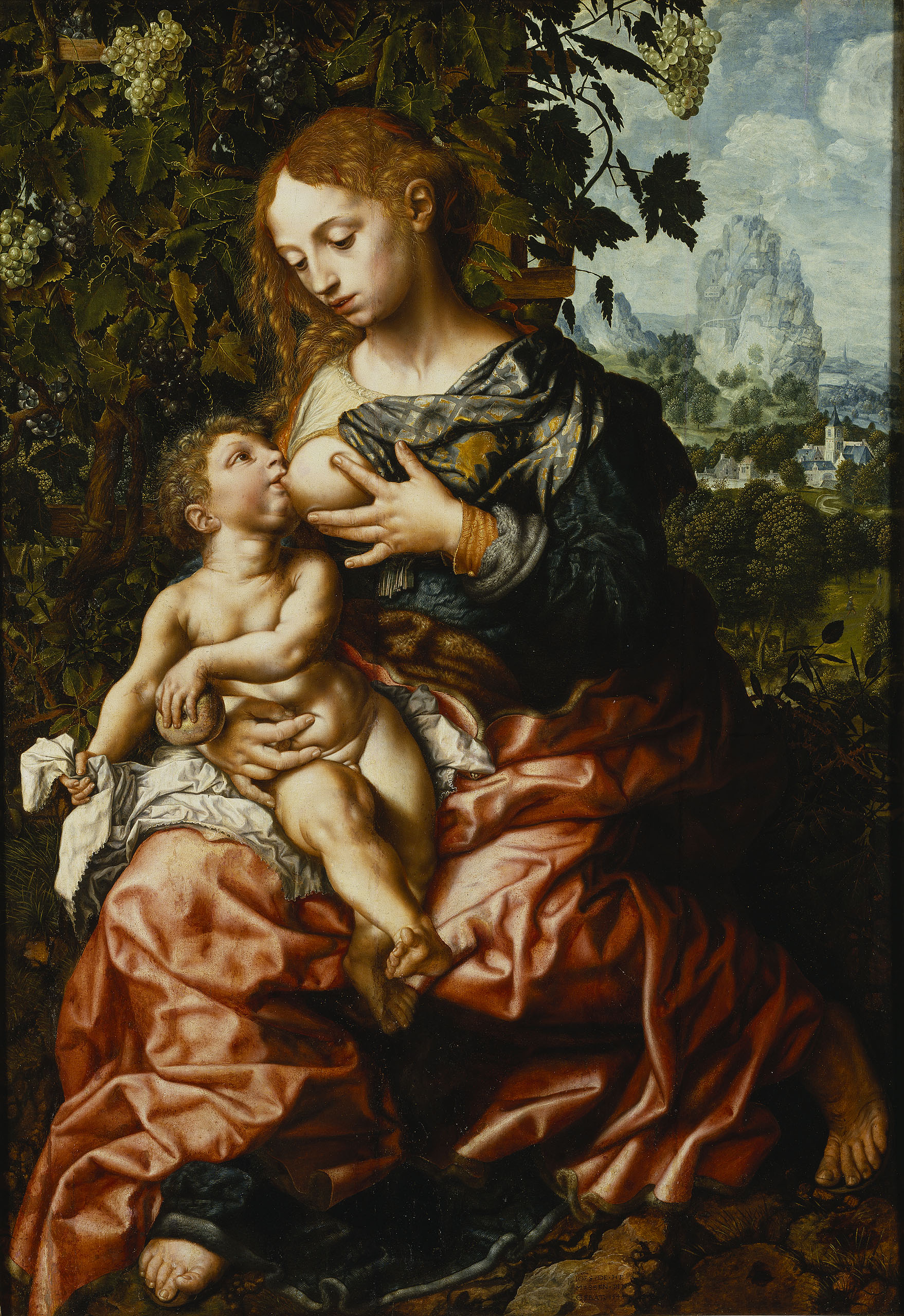 Fig. Fig. 2. Jan van Hemessen (1500-1556/57), Madonna of Humility, 1544 (inv. no. NM 2140)Jan van Hemessen, Madonna of Humility, 1544 (inv. no. NM 2140)