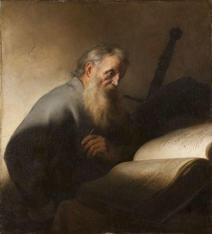 Fig. 9. Jan Lievens (1607-1674), <em>The Apostle Paul at His Writing Desk</em> (inv. no. NM 7087)