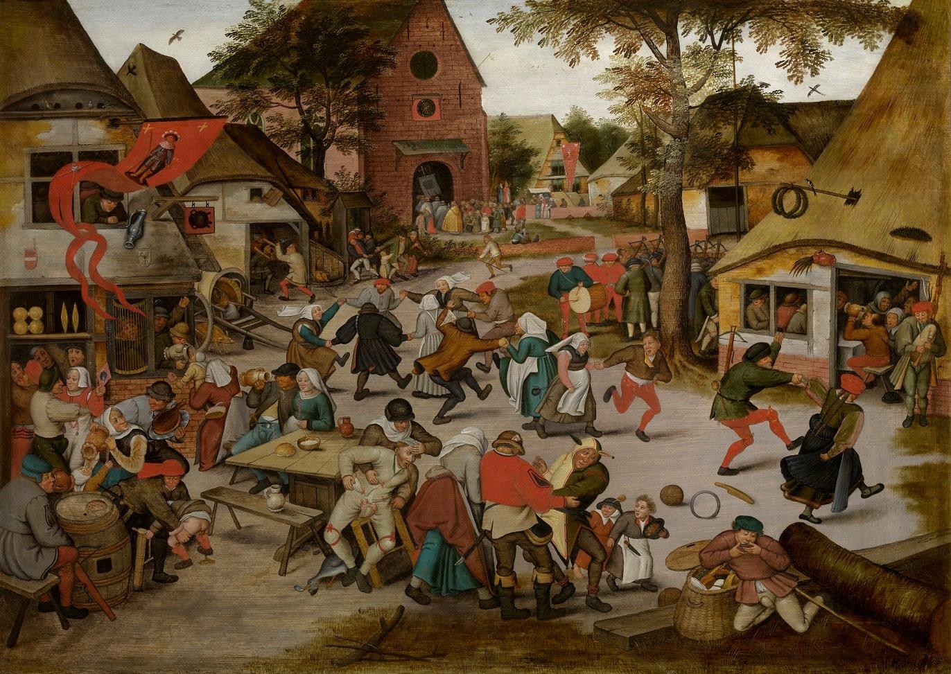 Pieter Breughel II (1564-1638), Pieter Brueghel III (1589-1608), <em>Fair of Saint George</em>, seventeenth century<br /> KMSKA, Antwerp