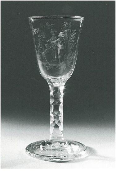 David Wolff (1732-1789), <em>A glass with stipple engravings</em>, ca. 1760-1780<br>Rijksmuseum, Amsterdam