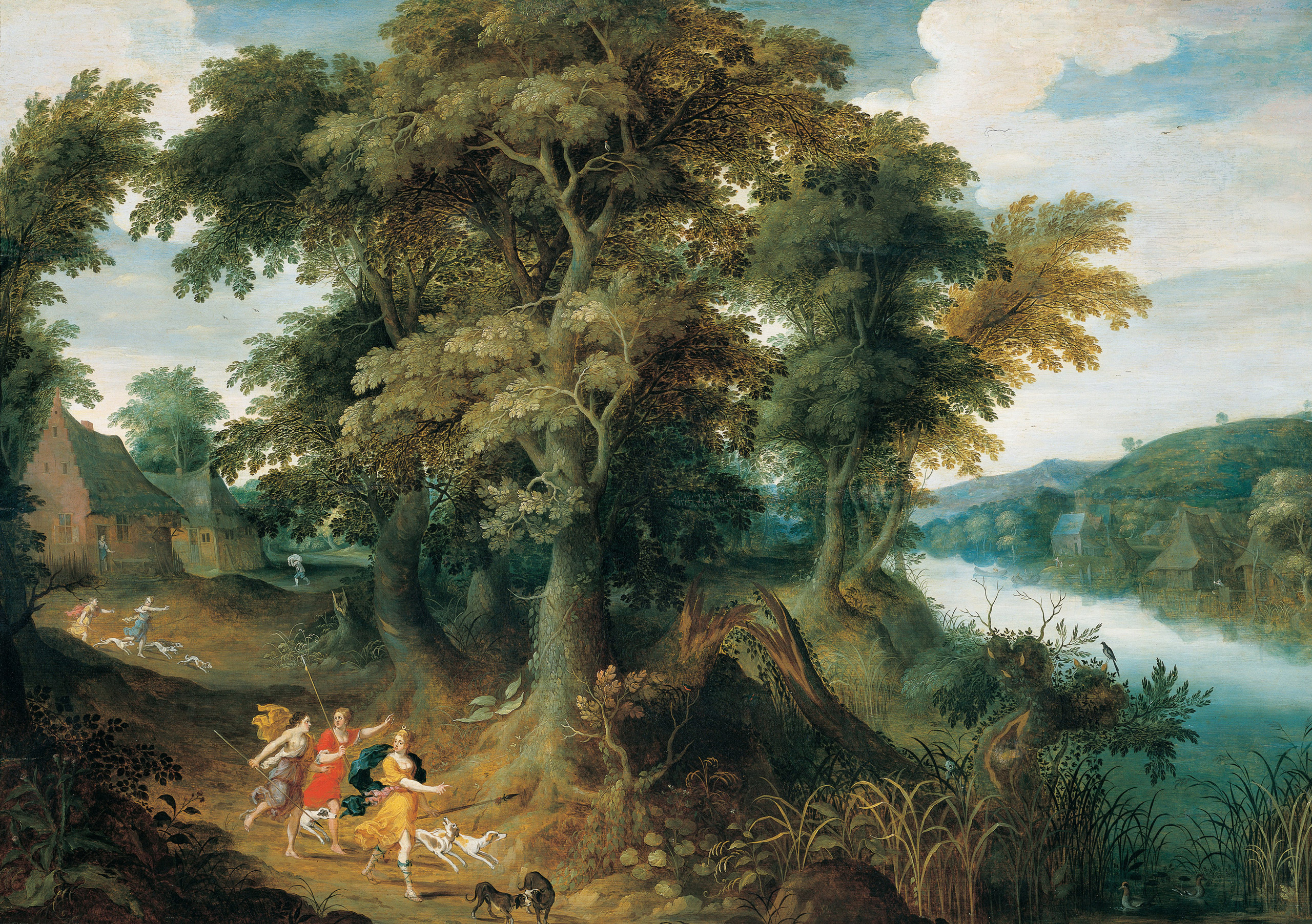 Fig. 2 Jasper van der Lanen (c. 1585-after 1634), <em>Diana and her Nymphs</em>, oil on canvas, 83 x 118 cm. Buenos Aires, Museo Nacional de Bellas Artes