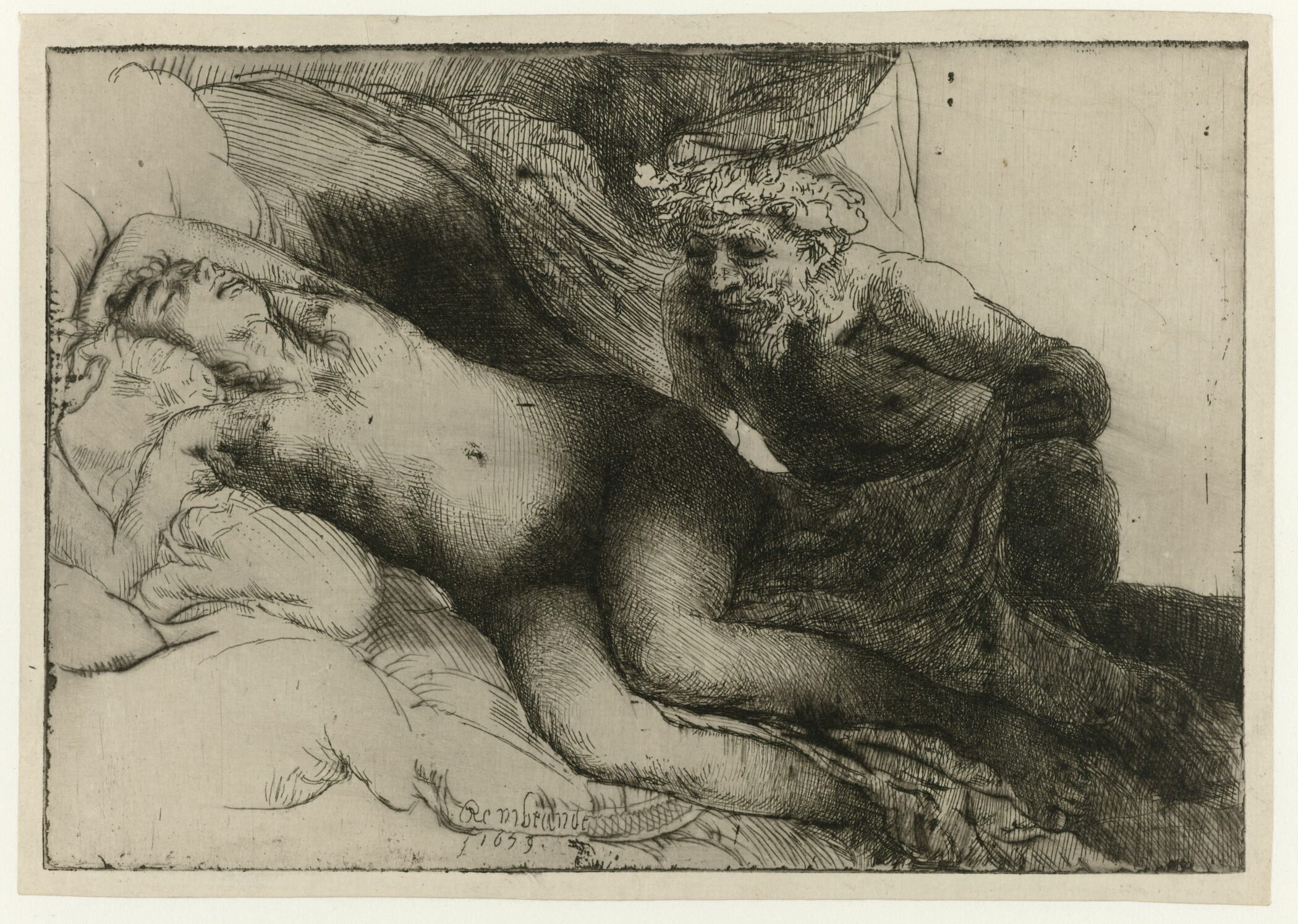 Rembrandt (1606-1669), Jupiter and Antiope , 1659 Rijksmuseum, Amsterdam