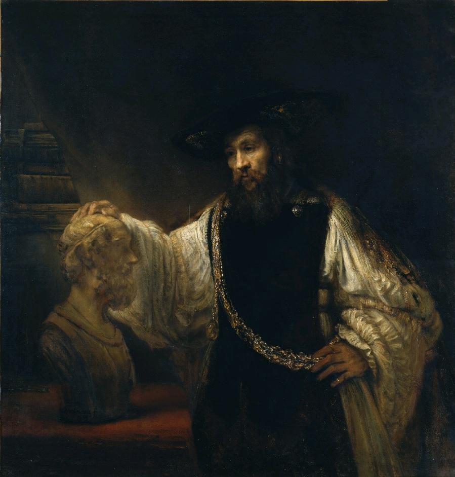 Rembrandt van Rijn (1606-1669), <em>Aristotle with a Bust of Homer</em>, 1653<br>Metropolitan Museum of Art, New York