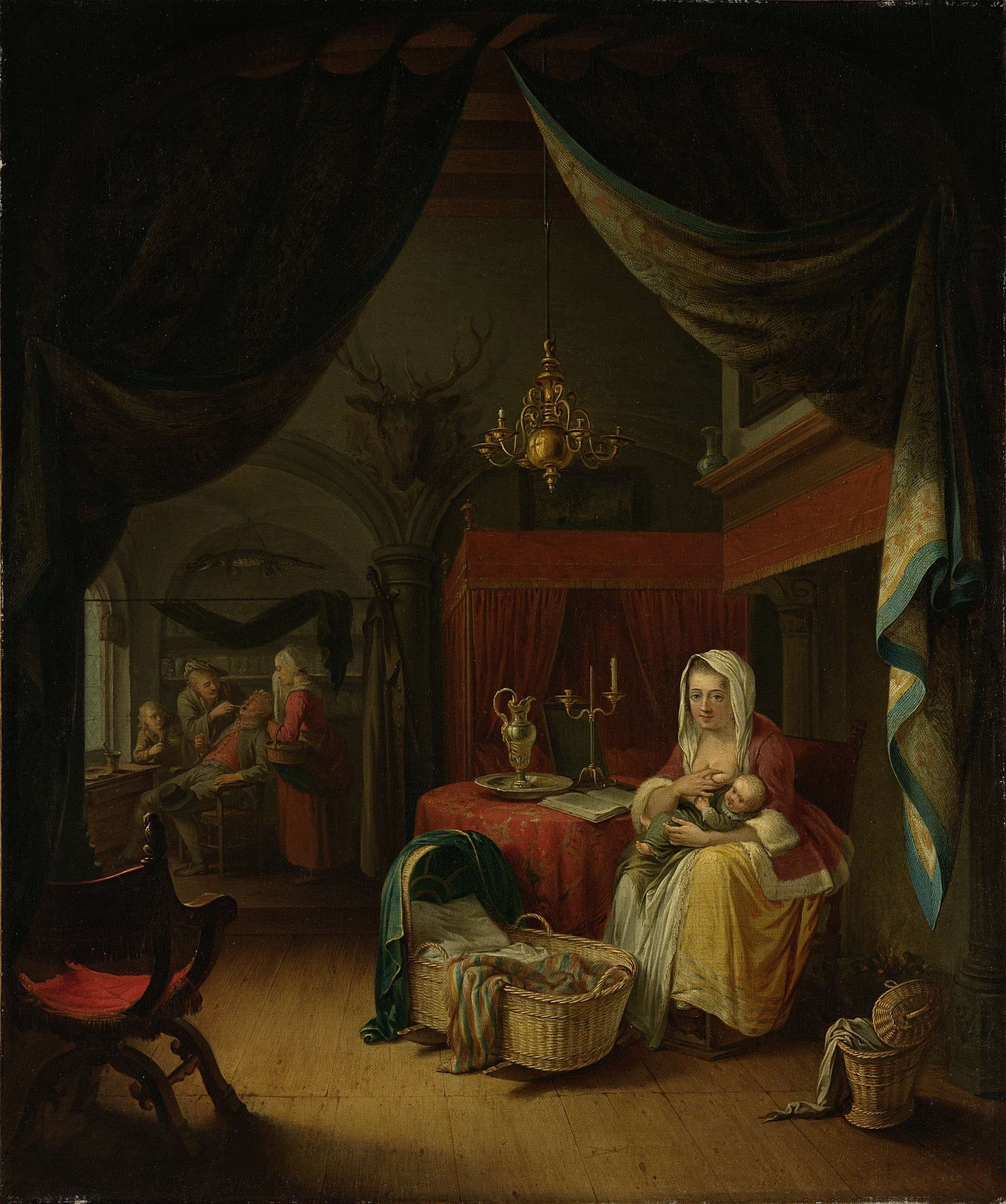 Willem Joseph Laquy after Gerard Dou, The Lying-in Chamber, ca. 1770Rijksmuseum Amsterdam