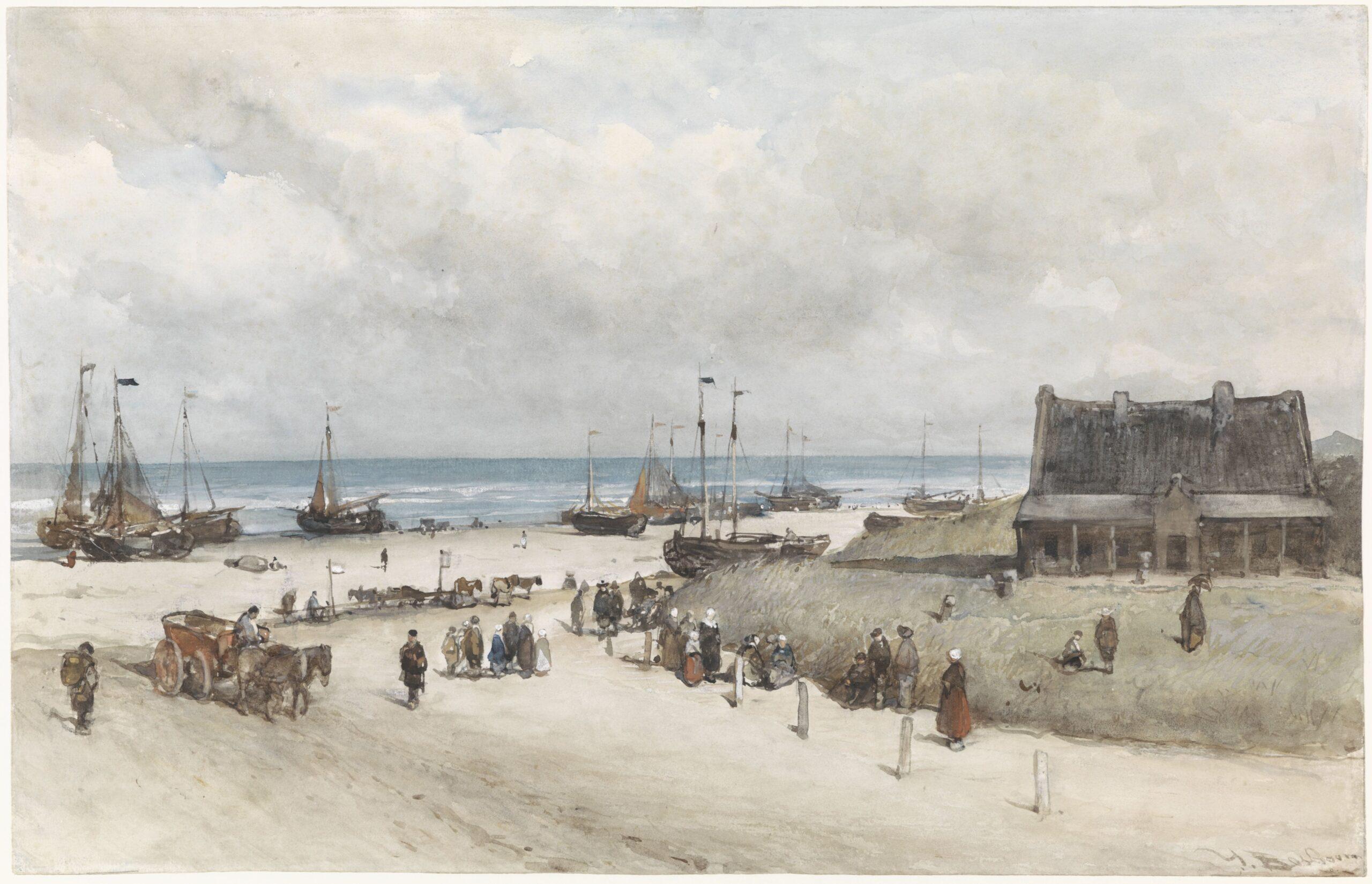 Johannes Bosboom (1817-1891), The Beach at Scheveningen, 1873<br>Rijksmuseum, Amsterdam