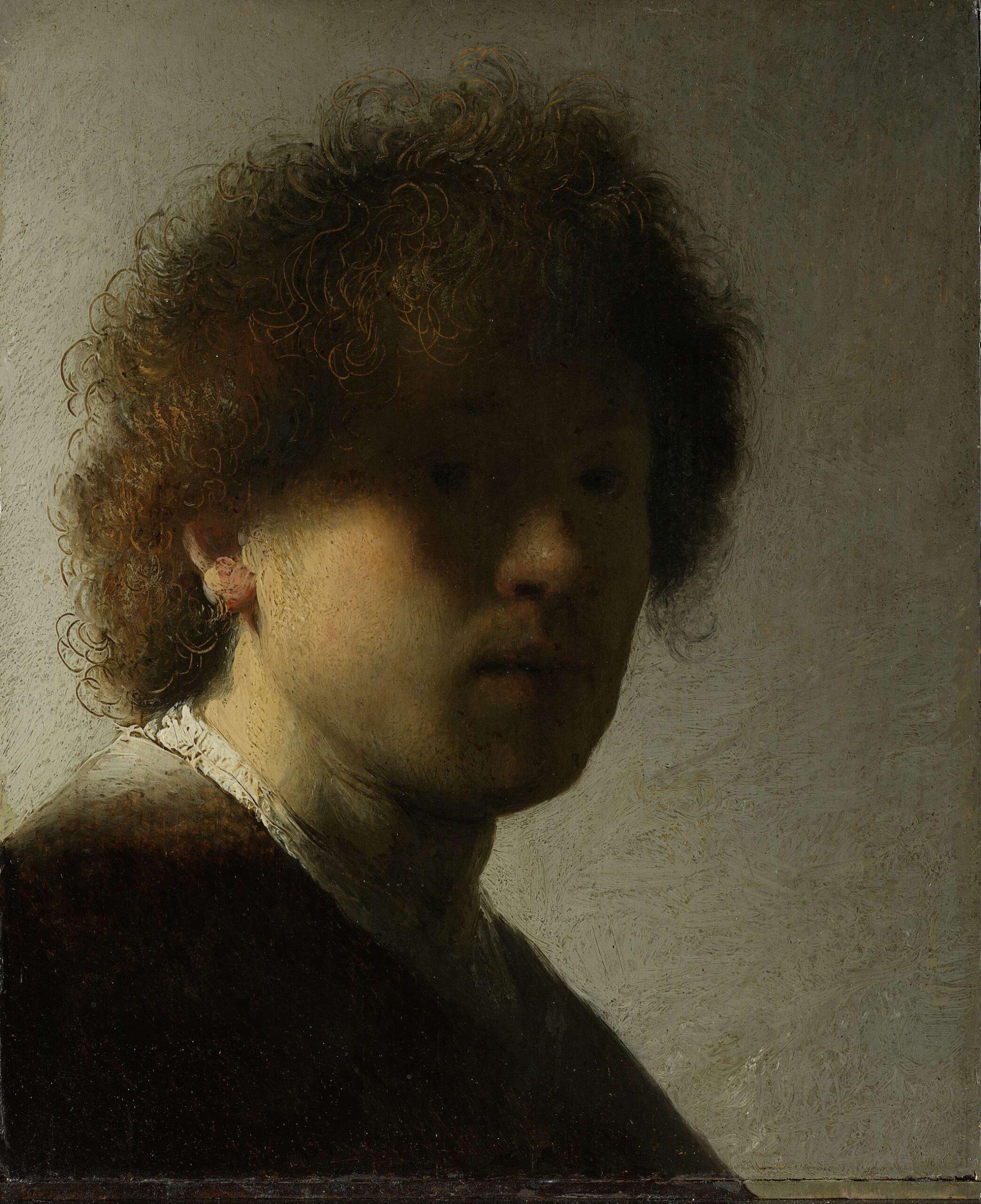 Rembrandt van Rijn (1606-1669), <em>Self-Portrait</em>, 1628<br/> Rijksmuseum, Amsterdam