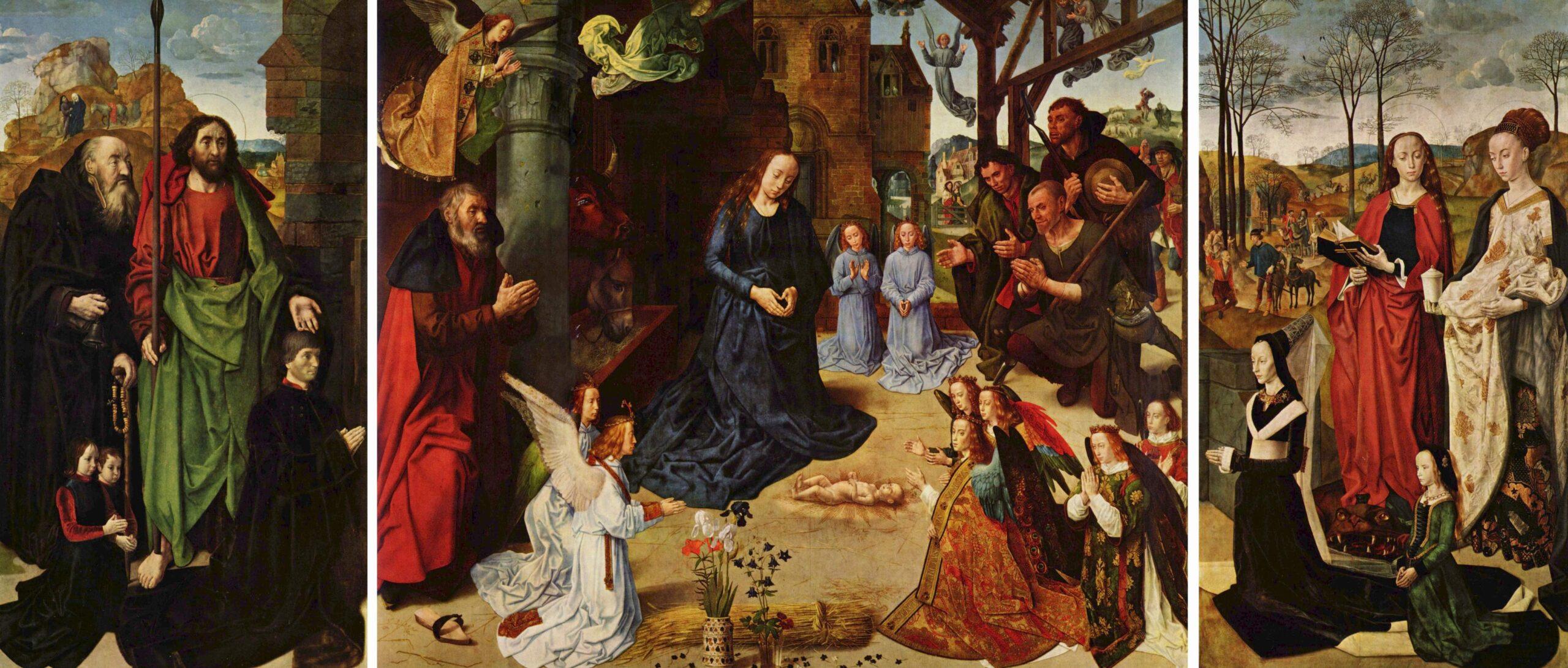 Hugo van der Goes (ca. 1440-1482), <em>The Portinari Altarpiece</em><br>Galleria degli Uffici, Florence