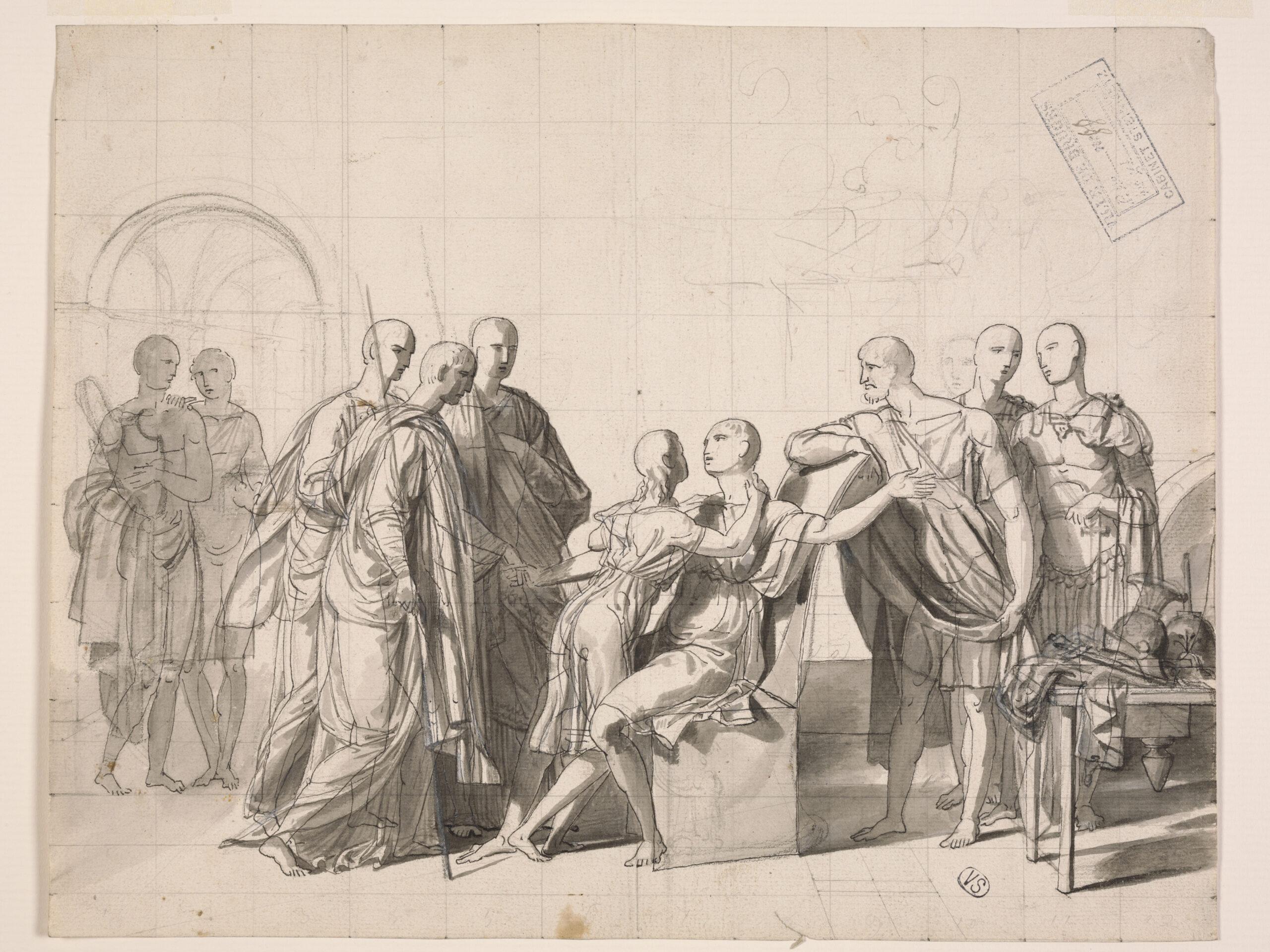 Fig. 2: Joseph Ducq (1762-1829), The Return of Scipio's Son, Groeningemuseum, Printroom, 0000.GRO2180.II Photo: Dominique Provost