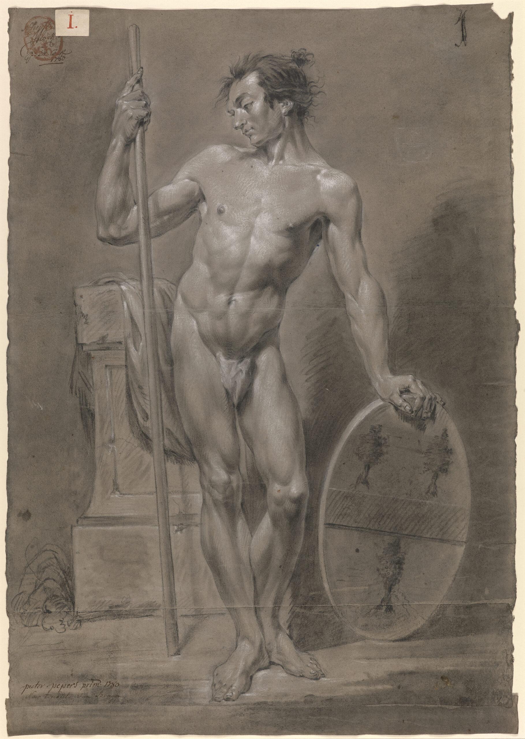 Fig. 8: Pieter Pepers II (1761-1794), Study from a Model, Groeningemuseum, Printroom, 0014.GRO0009.II