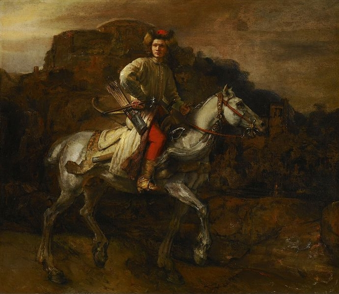 Rembrandt van Rijn (1606-1669) (and assistant?), <em>The Polish Rider</em>, ca. 1655<br>The Frick Collection, New York