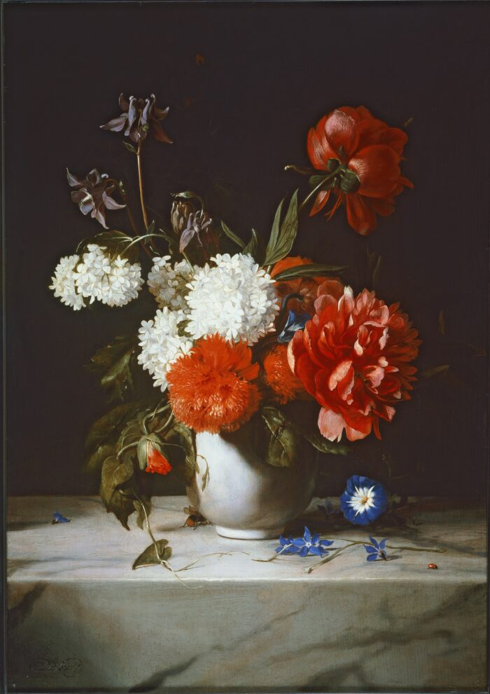 Dirck de Bray (1625-1694), <em>Flowers in a White Vase</em>, 1671