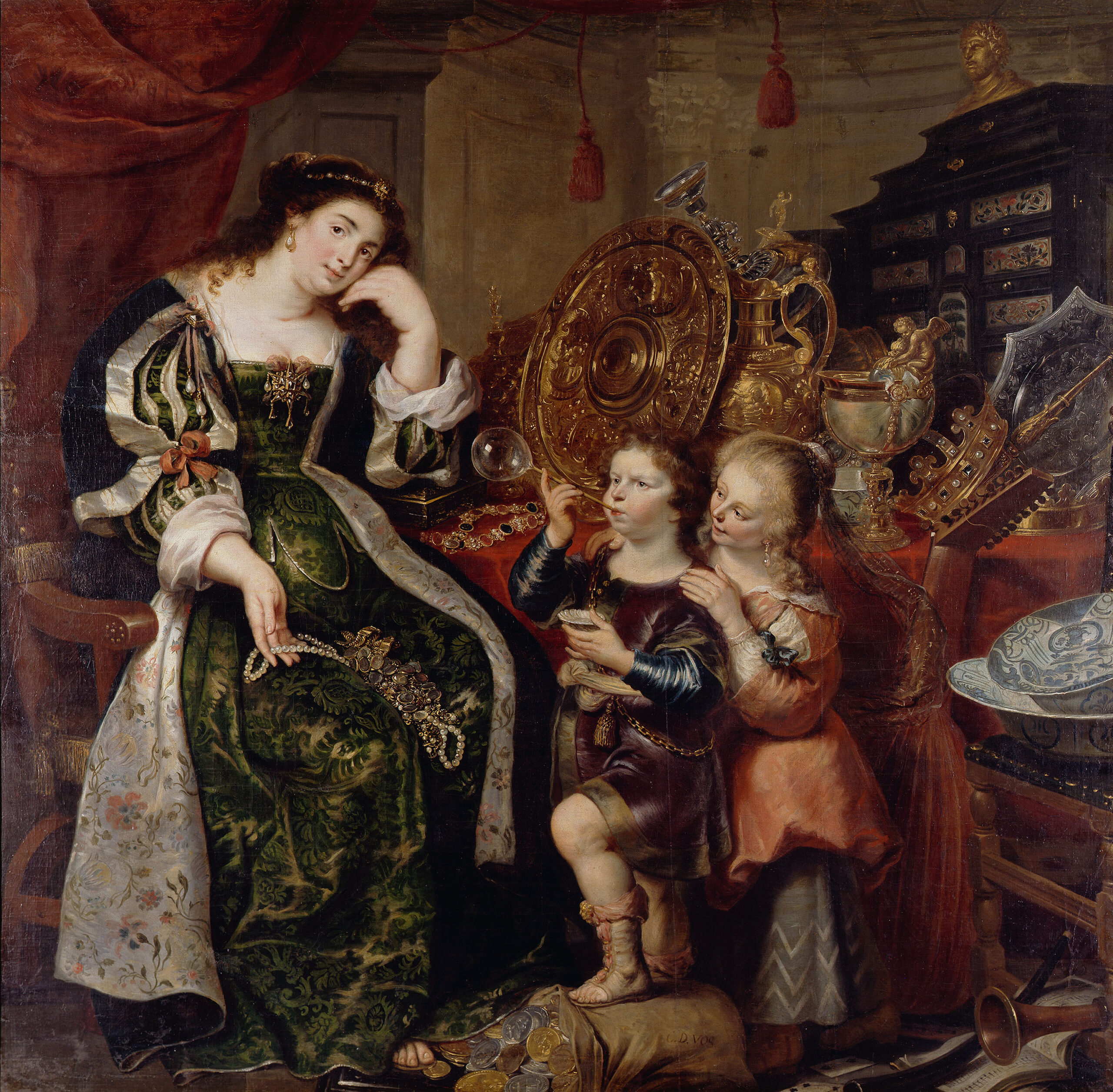 Fig. 5. Cornelis de Vos (ca. 1584/85-1651), Allegory of Vanity, ca. 1626, canvas, 190 x 194 cm Herzog Anton Ulrich-Museum Braunschweig, inv. no. GG 109