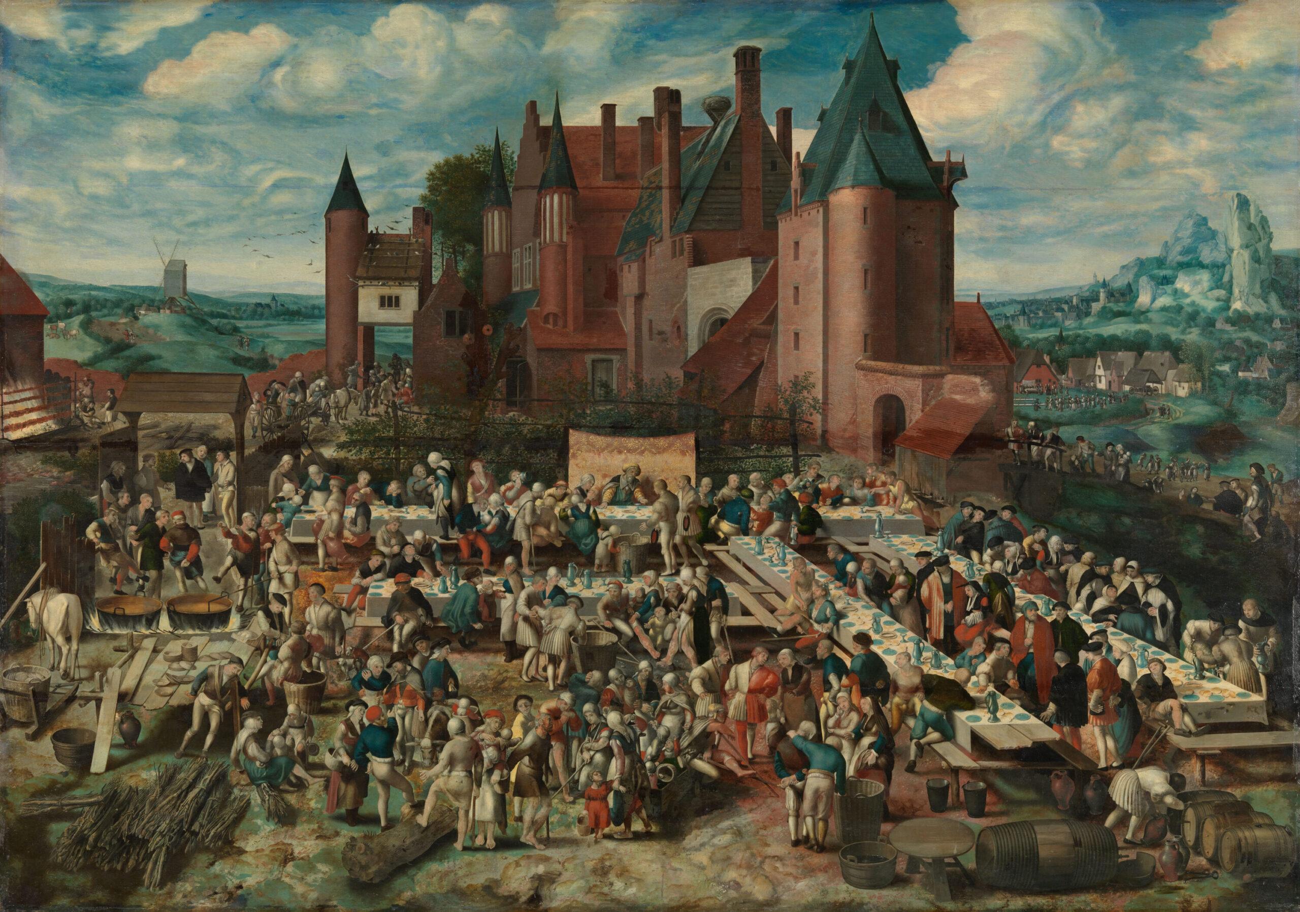 Fig. 2. Braunschweiger Monogrammist (active 2nd quarter of 16th century), Parable of the Great Banquet of the Rich Man, panel, 120.6 x 171.8 cm, Herzog Anton Ulrich-Museum Braunschweig, inv. no. GG 165