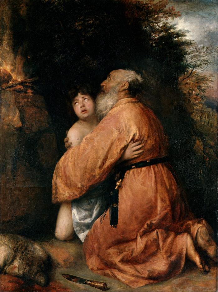 Fig. 9. Jan Lievens (1607-1674), <em>The Sacrifice of Isaac</em>, ca. 1638, canvas, 180 x 136 cm</br>Herzog Anton Ulrich-Museum Braunschweig, inv. no. GG 242