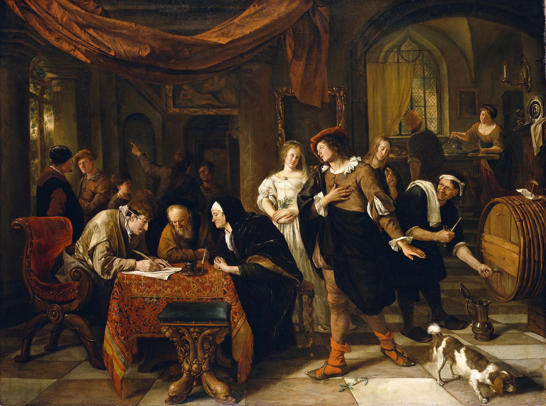 Fig. 11. Jan Steen (ca. 1626-1679), The Marriage of Tobias and Sarah, ca. 1667, canvas, 131 x 172 cm Herzog Anton Ulrich-Museum Braunschweig, inv. no. GG 313-