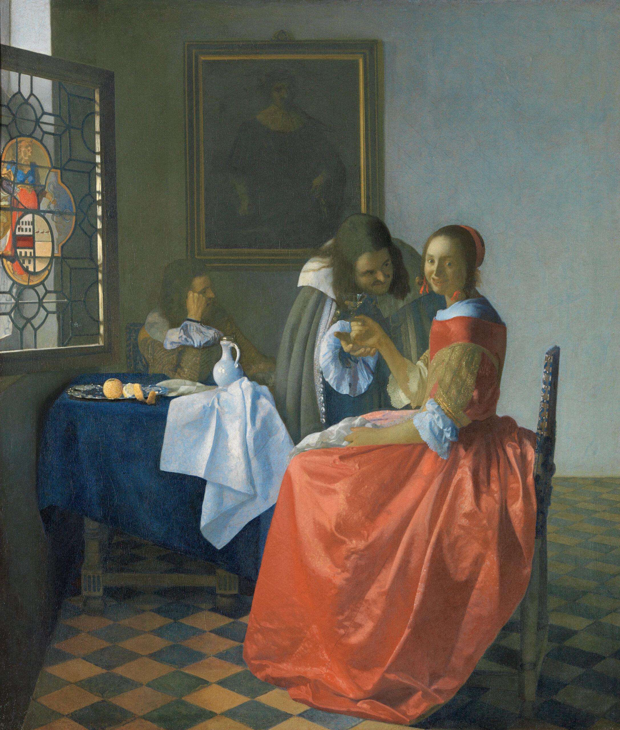 Fig. 10. Johannes Vermeer (1632-1675), Girl with a Wineglass, ca. 1658-60, canvas, 78 x 67 cm Herzog Anton Ulrich-Museum Braunschweig, inv. no. GG 316