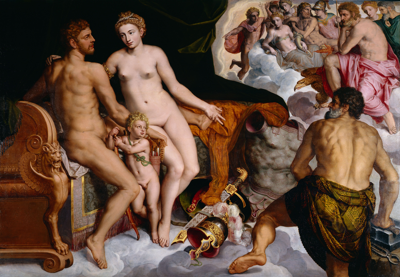 Fig. 3. Willem Key (ca. 1520-1568), Mars and Venus Surprised by Vulcan, panel, 146 x 210 cmHerzog Anton Ulrich-Museum Braunschweig, inv. no. GG 40