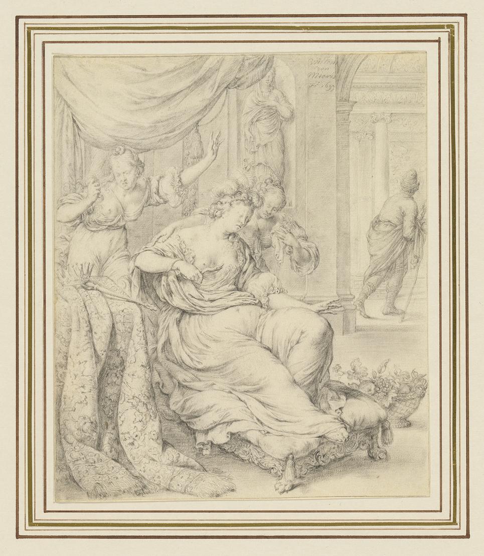 Fig 2. Willem van Mieris (1662-1747), Death of Cleopatra, 1699