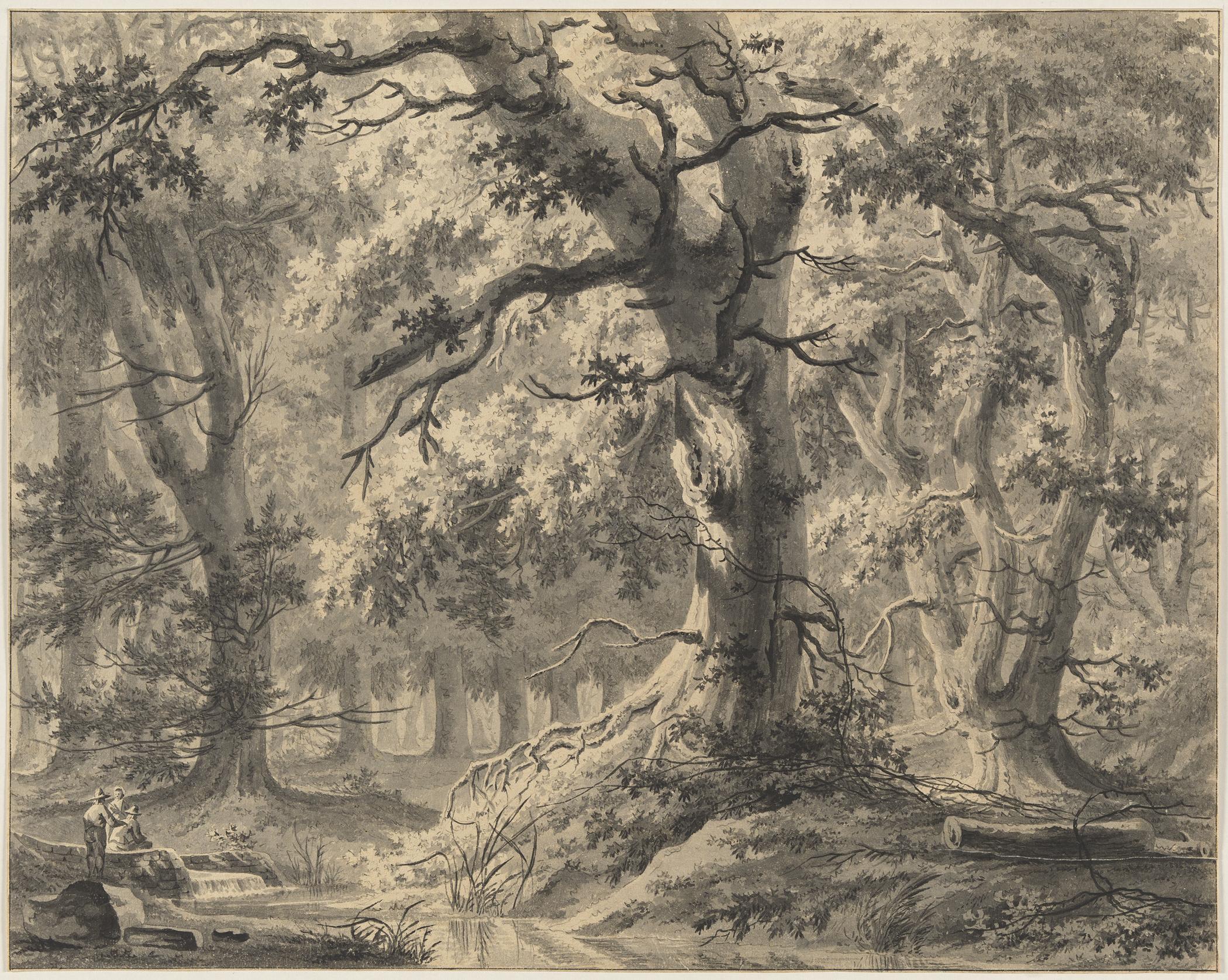 Fig 5. Paulus van Liender (1731-1797), Figures by a Stream in a Wood, inv. 4060/2294