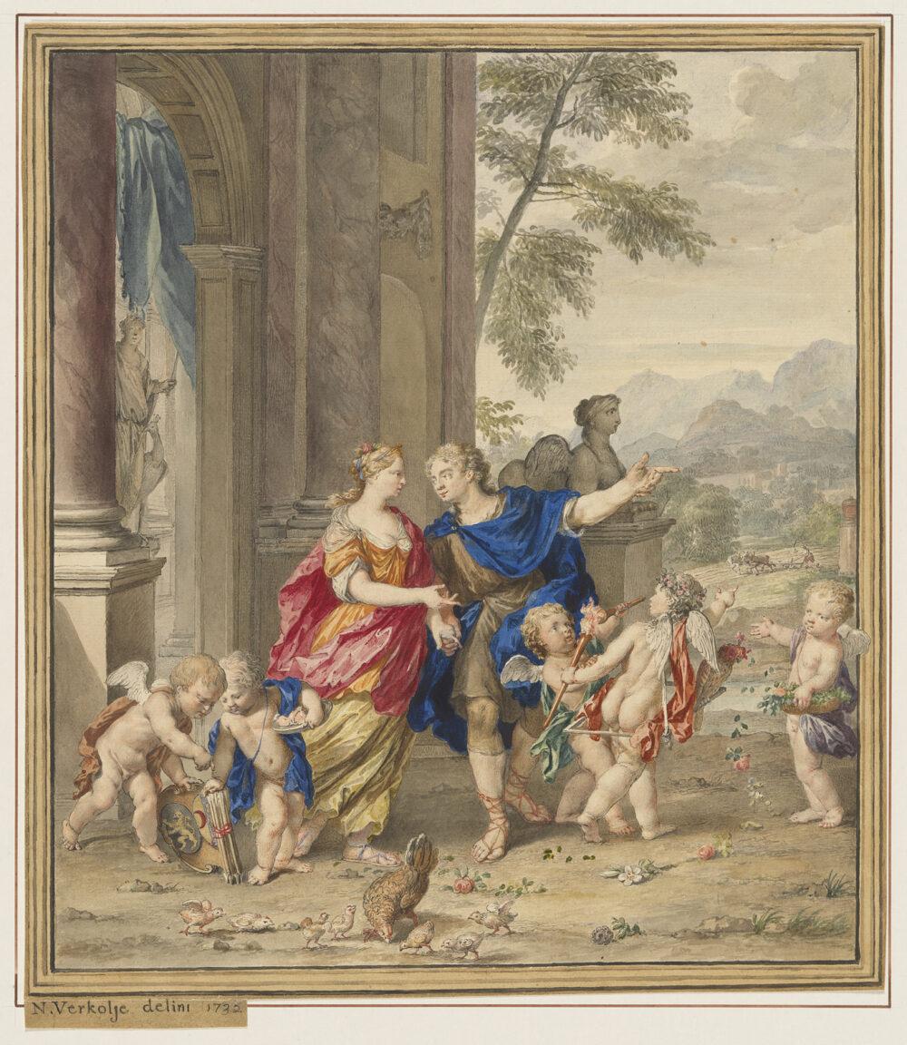 Fig 1. Nicolaas Verkolje (1673-1746), Young Couple Accompanied by Putti, 1732, inv. 4060/3766