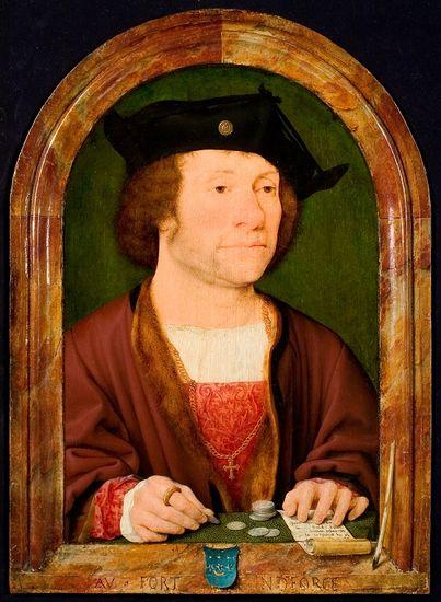 Attributed to Joos van Cleve (1585-1540), Portrait of an Unknown Man, ca. 1515, Rijksmuseum Twenthe, Enschede, inv. no. 0027 (photograph R. Klein Gotink)