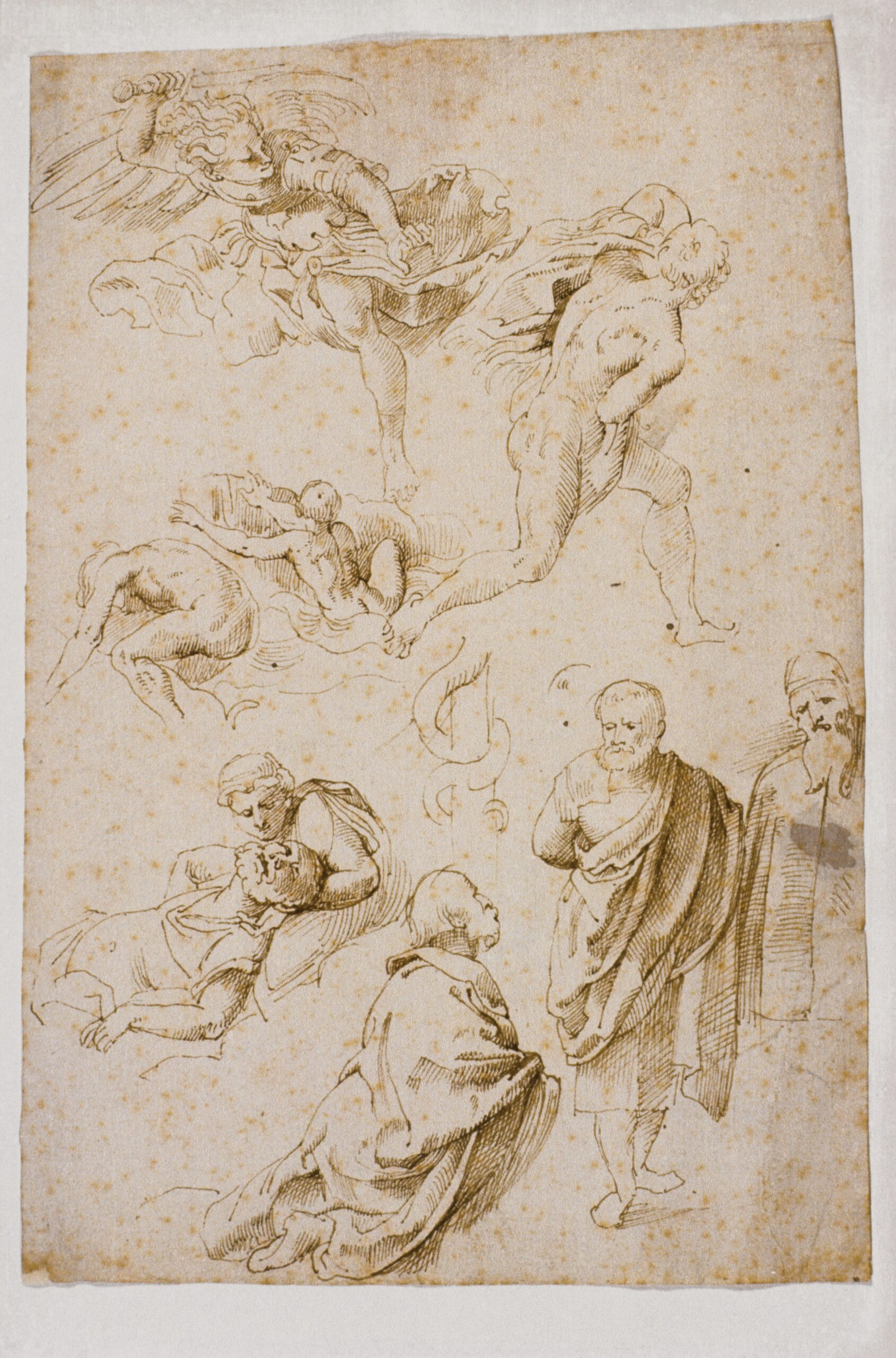 Peter Paul Rubens (1577-1640), Copies of Tobias Stimmer's Bible Illustrations, pen and brown ink, 19 x 13..5 cm Liberna Collection, inv. no. 71