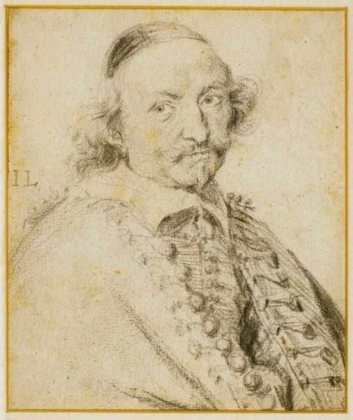 Jan Lievens (1607-1674), Portrait of the Poet Joost van den Vondel, signed I L black chalk, 20.2 x 16.8 cm Liberna Collection, inv. no. 36