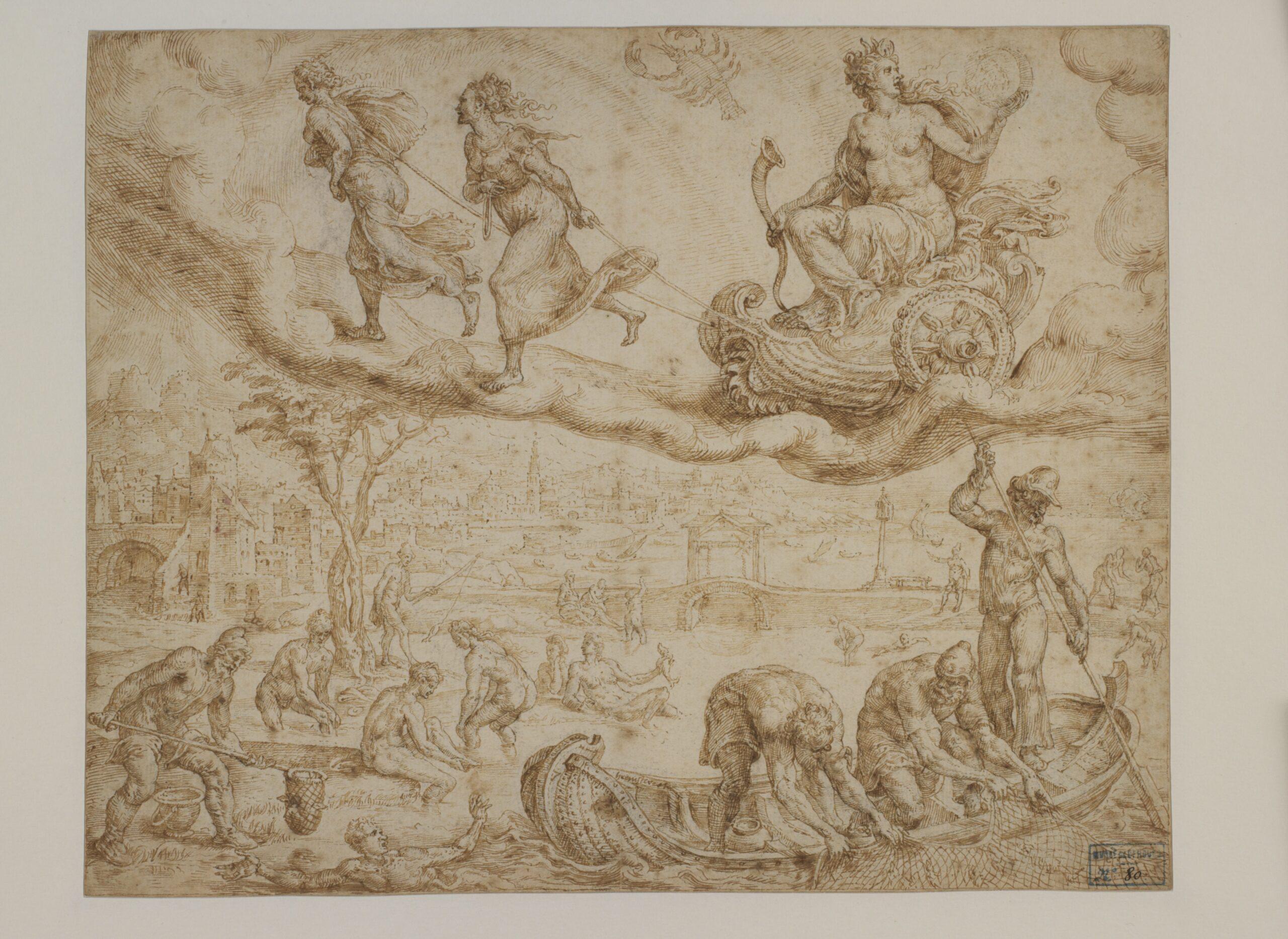 Maarten van Heemskerck (1498-1574), The Moon and her Children pen and brown ink, over black chalk, 20 x 25 cm Bergues, Musée du Mont-de-Piété, inv. no. 2011.0.209.80 © Musée du Mont-de-Piété - Bergues / Photo Gilles Decavel
