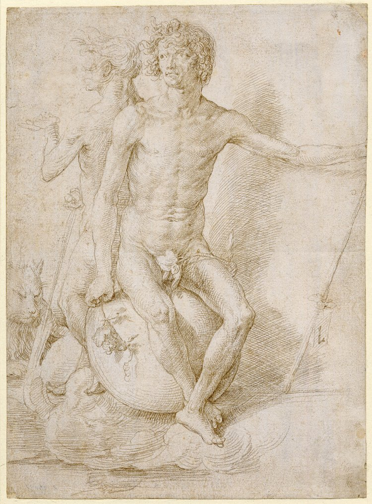 Fig. 6: Lucas van Leyden (1494-1533), Two Nude Allegorical Figures, c.1516, British Museum, London, inv. no. 1892,0804.9. © The Trustees of the British Museum