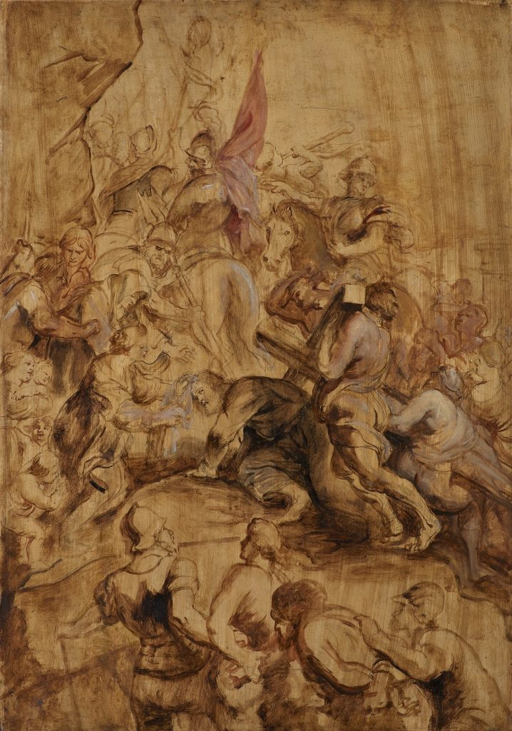 Peter Paul Rubens (1577-1640), The Ascent to Calvary, The Bearing of the Cross, 1634, Statens Museum for Kunst, Copenhagen