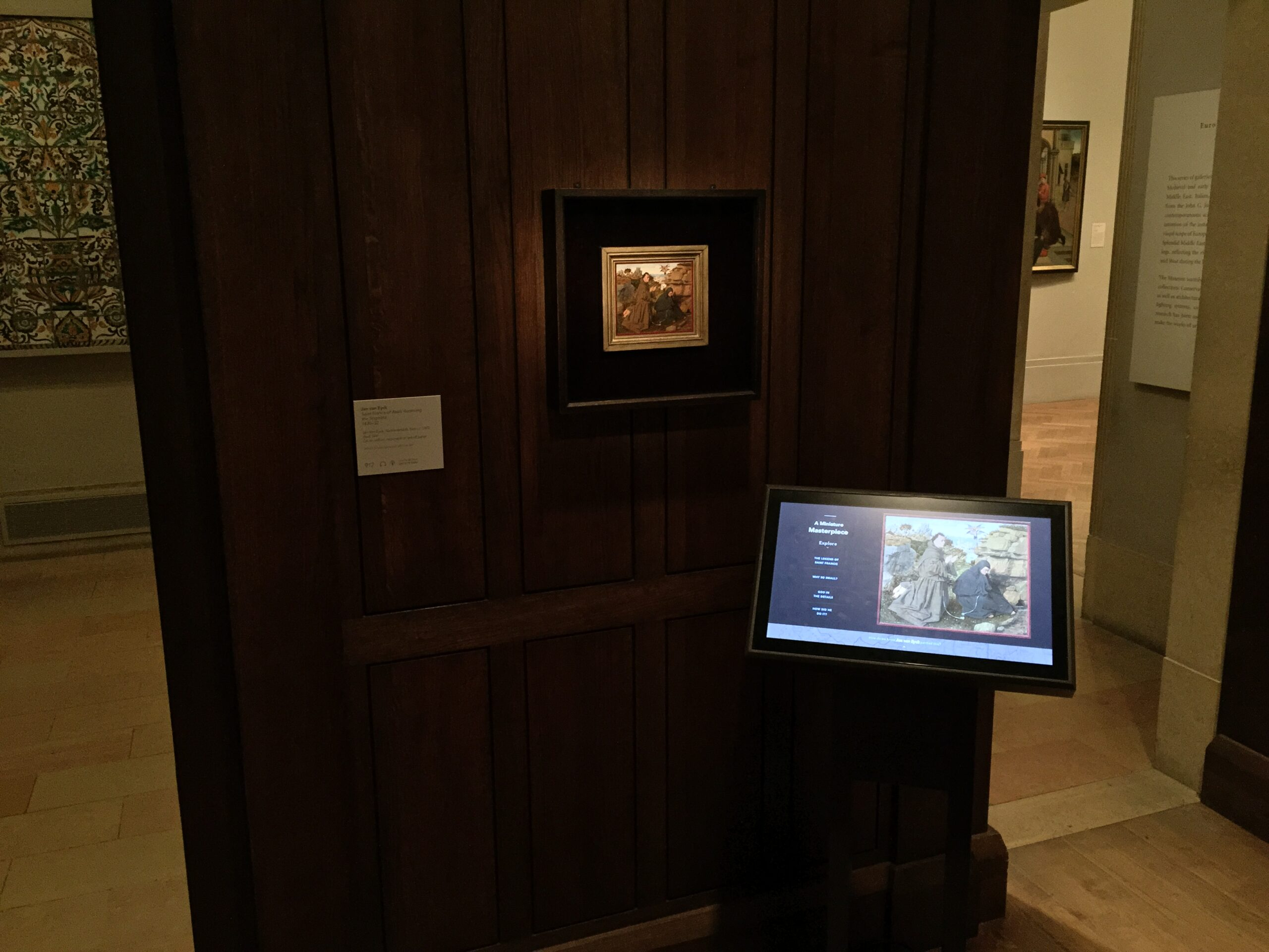 Fig. 5: Jan van Eyck's St. Francis Receiving the Stigmata in the gallery
