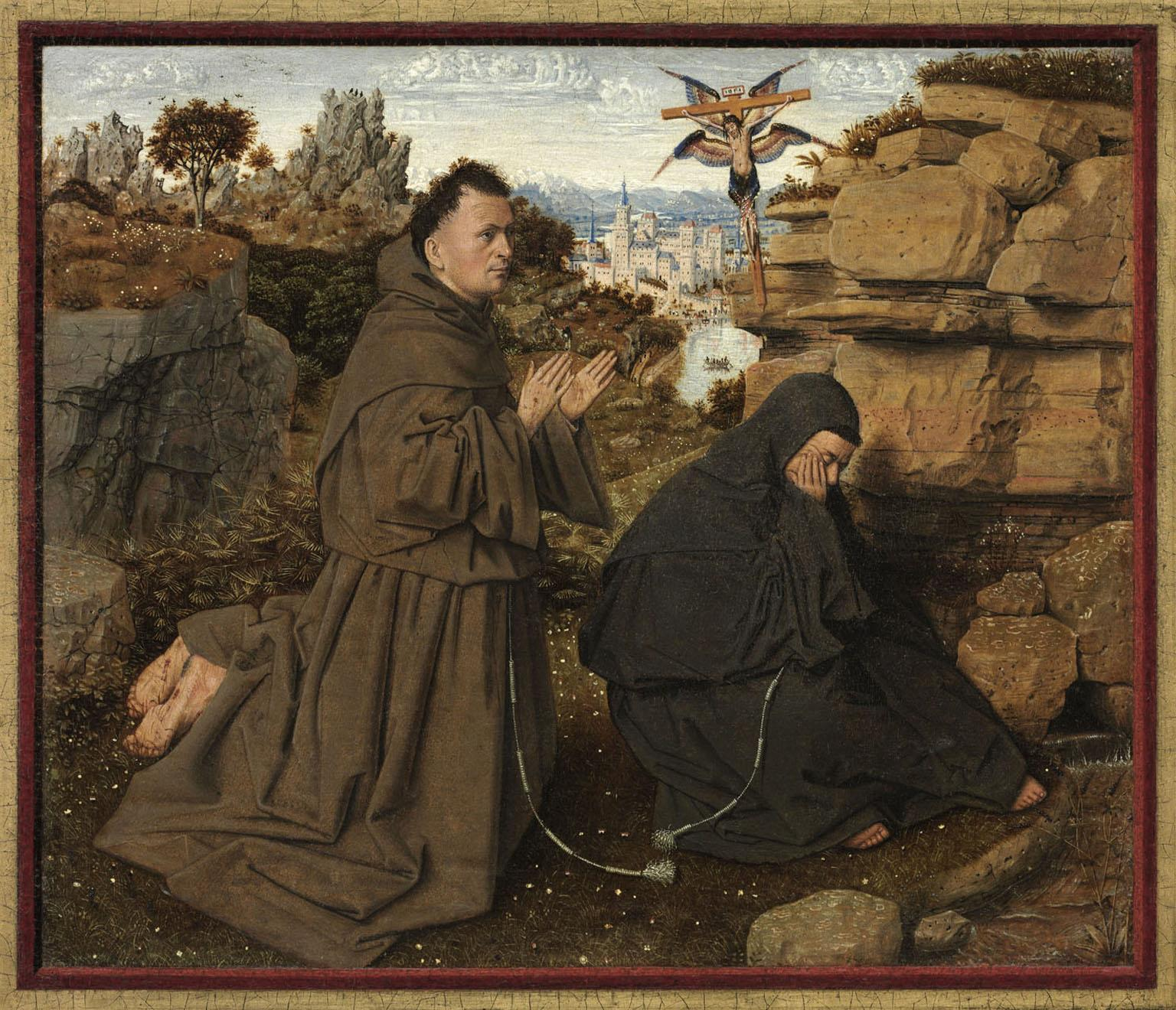 Fig. 4: Jan van Eyck (1390-1441), St. Francis Receiving the Stigmata , 1430-1432, John G. Johnson Collection, 1917, Philadelphia Museum of Art