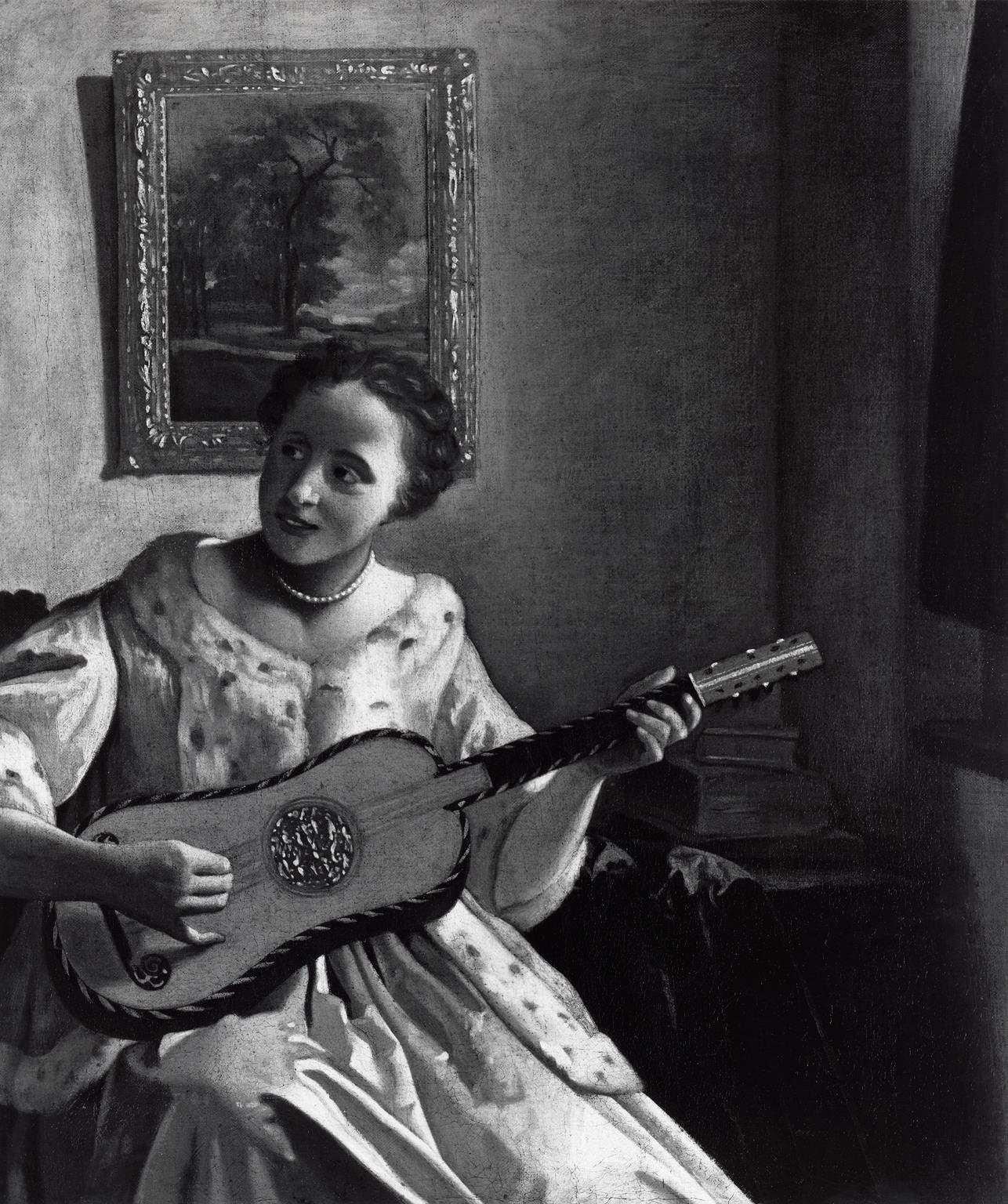 Fig. 7: Copy after Johannes Vermeer, Lady with a Guitar , late 17th century, John G. Johnson Collection, 1917, Philadelphia Museum of Art