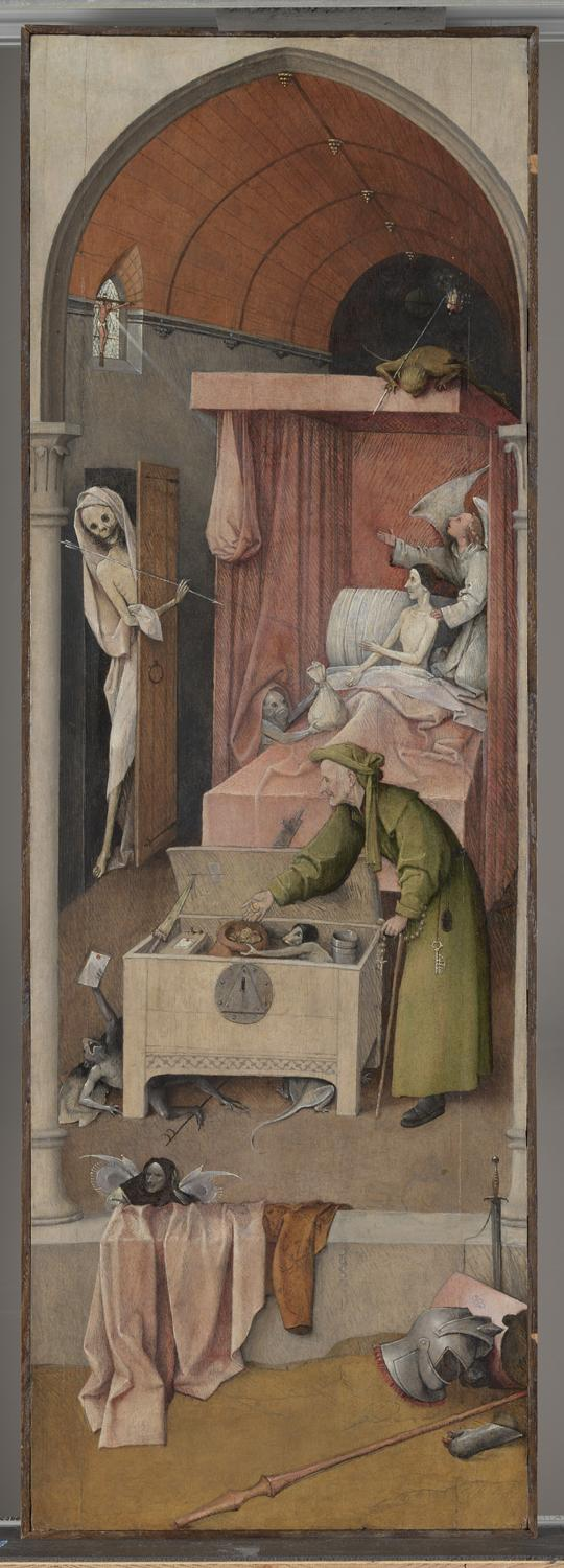 Jheronimus Bosch (1440/1460-1516), <em>Death and the Miser</em>, ca. 1500-1510, Samuel H. Kress Collection, National Gallery of Art, Washington-