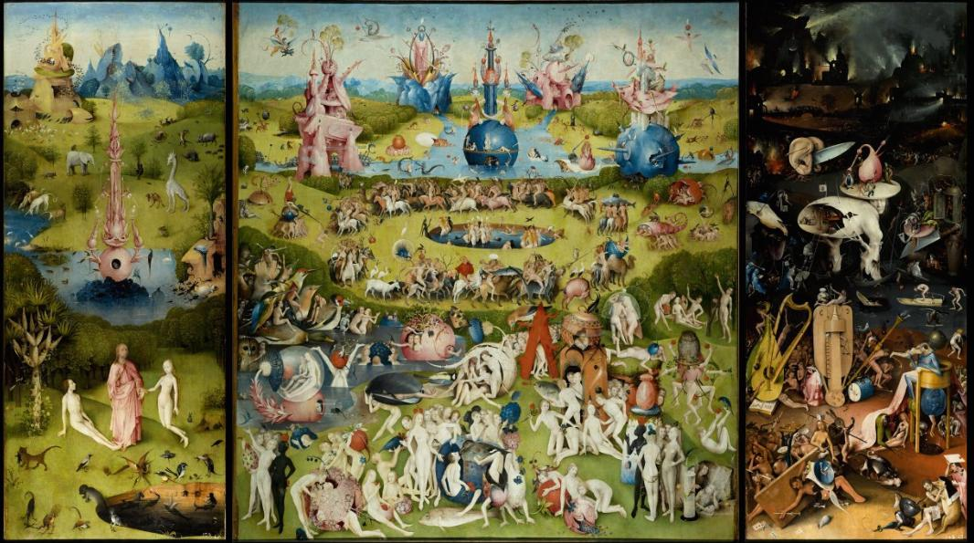Jheronimus Bosch (1440/1460-1516), The Garden of Earthly Delights, ca. 1500-1515, Museo Nacional del Prado, Madrid