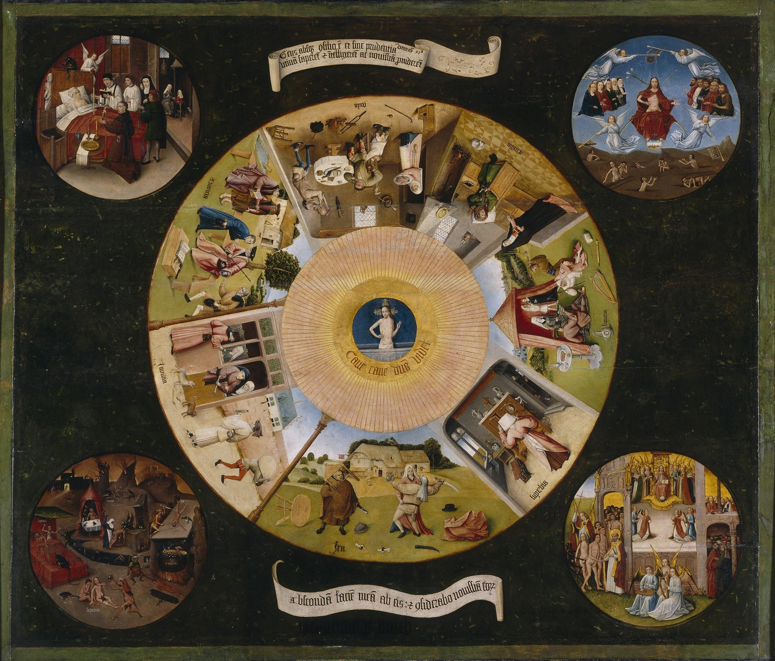 Jheronimus Bosch (1440/1460-1516),<em> The Seven Deadly Sins and the Four Last Things</em>, ca. 1500, Museo Nacional del Prado, Madrid