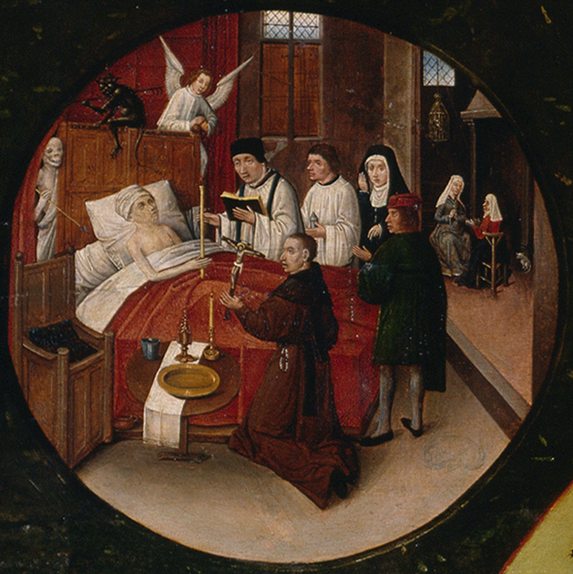 Detail of Death in The Seven Deadly Sins and the Four Last Things (Museo Nacional del Prado)