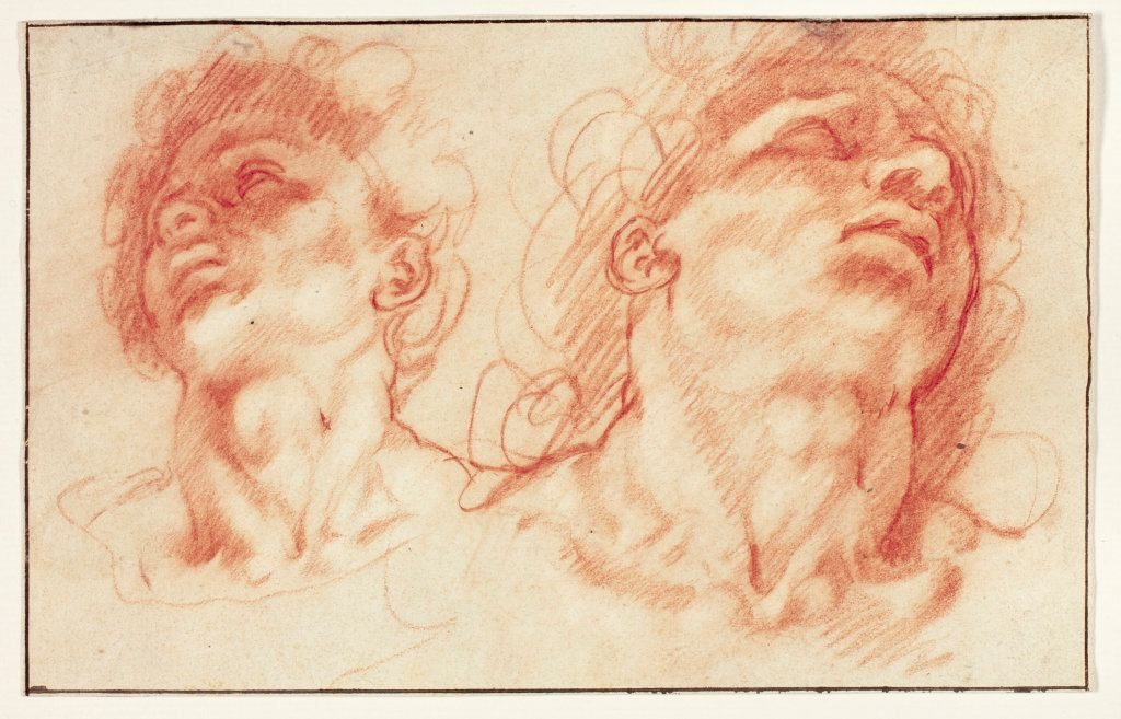Hendrick Goltzius (1558-1617), Two Male Heads after the Antique, Probably the Sons of Laocoön, n.d. The Art Institute of Chicago, Chicago