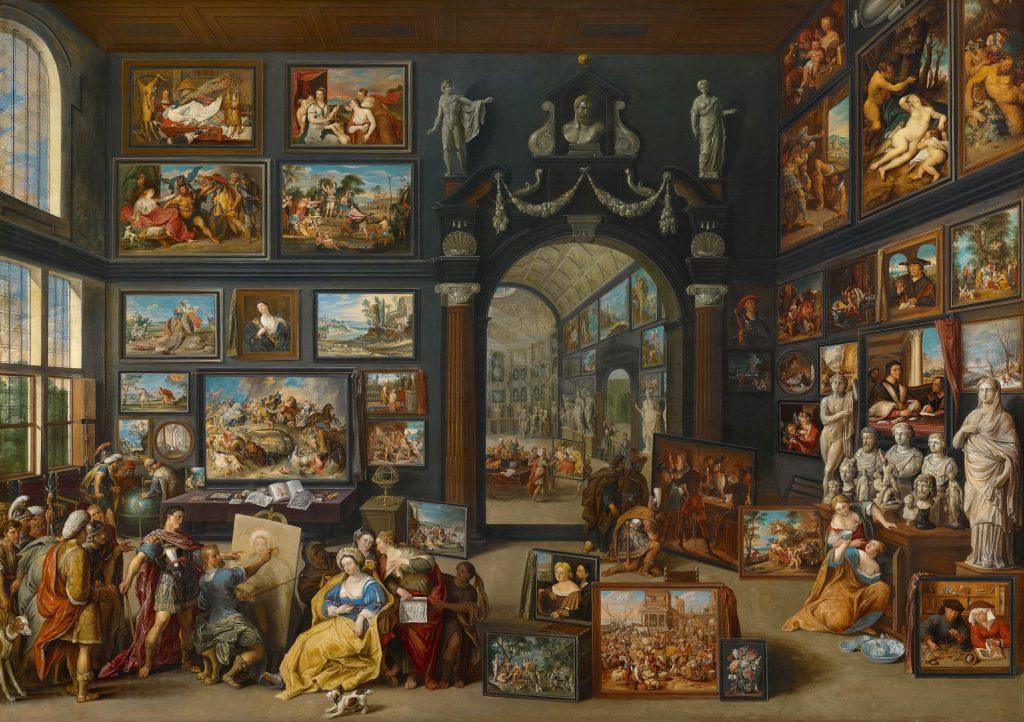 Willem van Haecht (1593-1637), Apelles paints Campaspe, ca. 1630. Koninklijk Kabinet van Schilderijen Mauritshuis, The Hague
