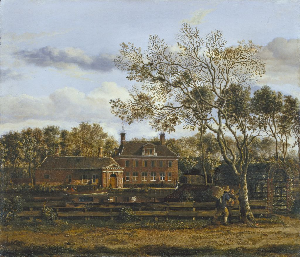 "Fig. 3. Jan van der Heijden (1637-1712), View of ""Wolff en Hoeck"", a country house in the Purmer polder. Private collection, USA"