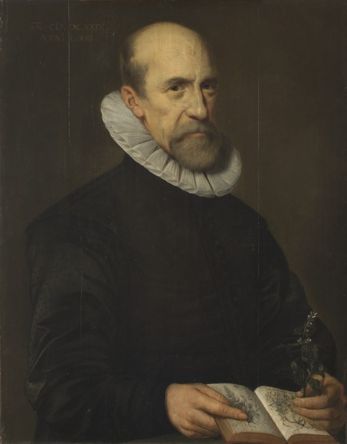 Dutch, possibly Circle of Michiel van Mierevelt, Portrait of a Botanist, 1629, Gift of Dr. Alfred R. Bader in honor of Wolfgang Stechow