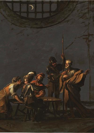 Attributed to Leonaert Bramer (1596 - 1674) The Denial of Saint Peter (detail), 1626, Museo Nacional del Prado, Madrid