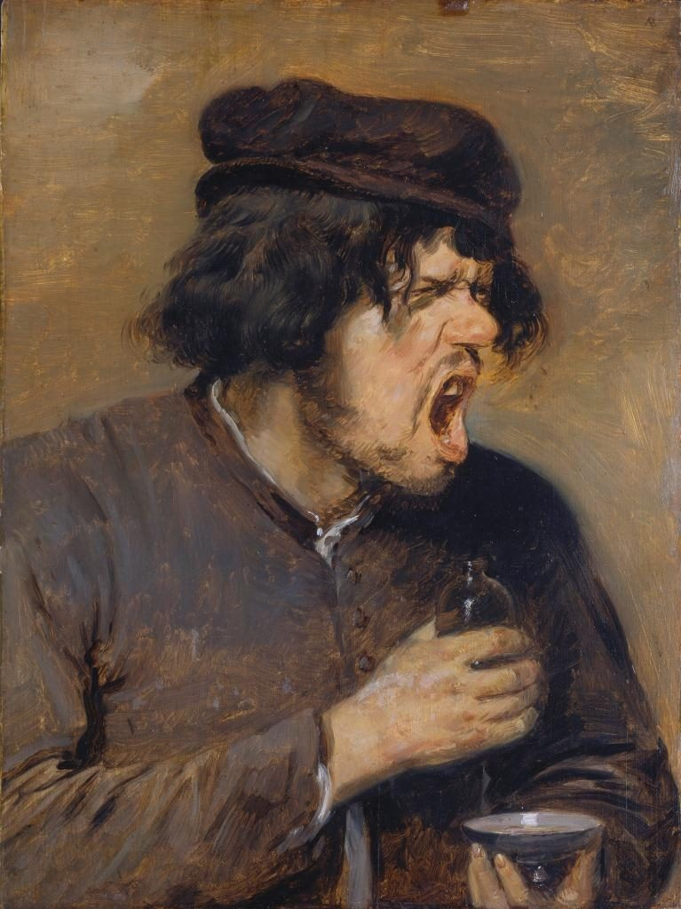 Adriaen Brouwer (1605-1638), The Bitter Potion, ca. 1636-38, Städel Museum, Frankfurt am Main