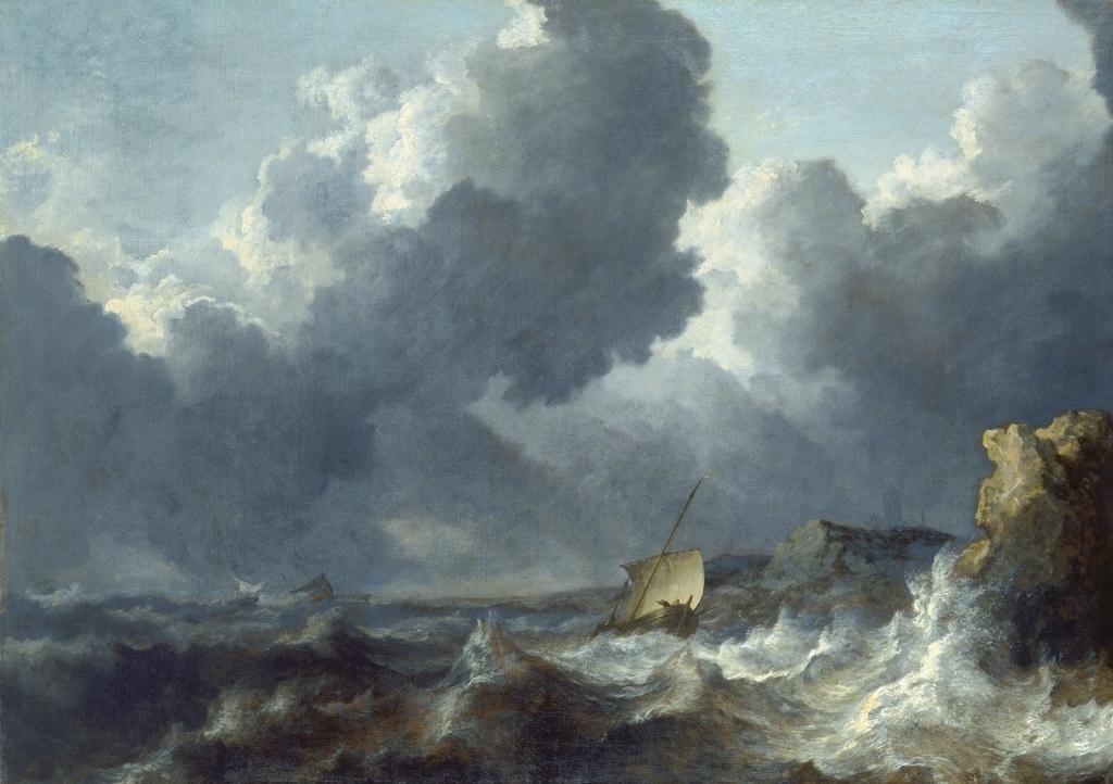 Allaert van Everdingen (1621-1675), Stormy Sea, Städel Museum, Frankfurt am Main