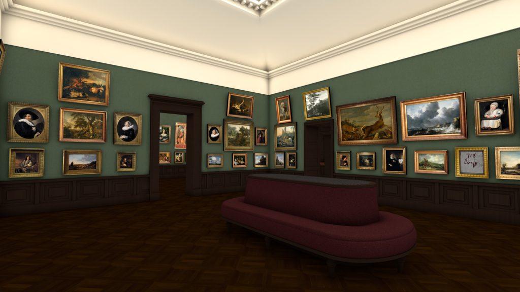 The Dutch and Flemish gallery at the Städel Museum, 1878. Digital Reconstruction © Städel Museum, Jochen Sander/Almut Pollmer-Schmidt/Yannic Jäckel, 2015