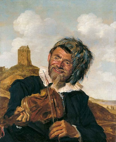 Attributed to Frans Hals (ca. 1583 - 1666), Fisherman playing the Violin, ca. 1630, Museo Thyssen-Bornemisza, Madrid