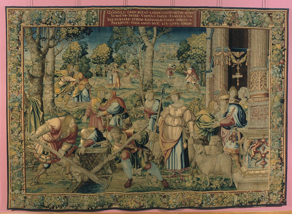 The Meeting of Jacob and Rachel from the Story of Jacob series, designed by Bernaert van Orley, Brussels, 1530-40 Cinquantenaire Museum (Jubelparkmuseum), Brussels (inv. 8586)