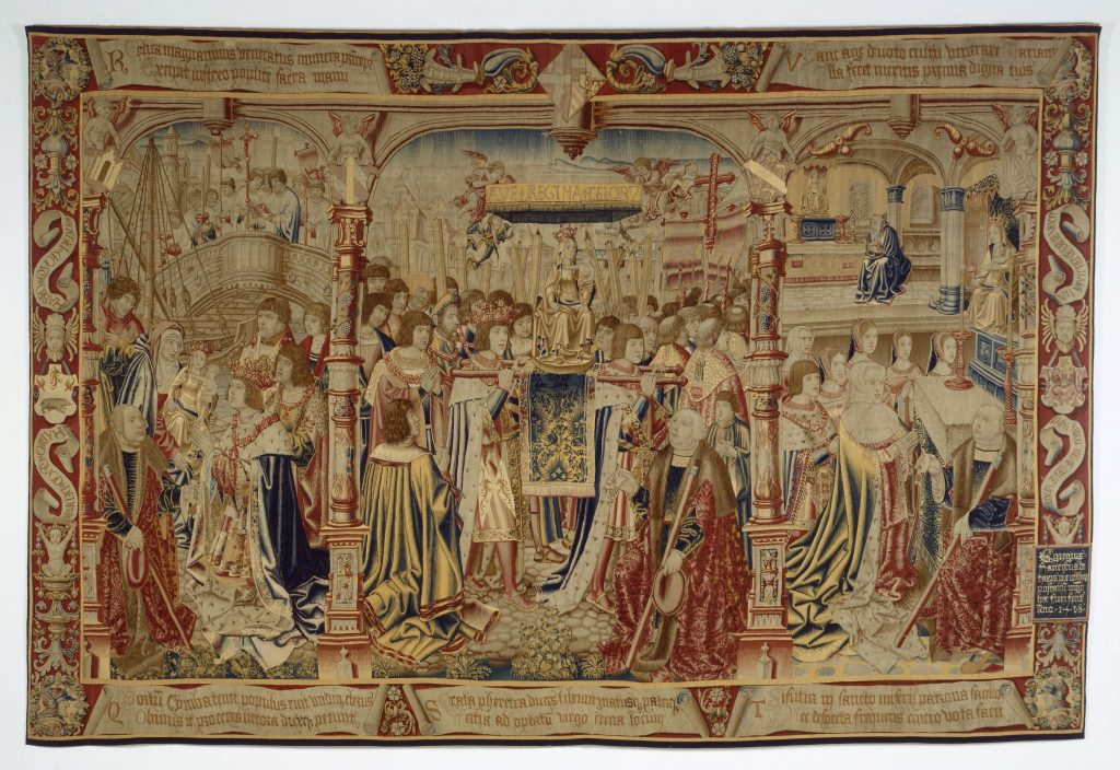 The fourth tapestry from the Legend of Notre Dame du Sablon series, designed by Bernaert van Orley, Brussels, 1516-18 Cinquantenaire Museum (Jubelparkmuseum), Brussels (inv. 3153)
