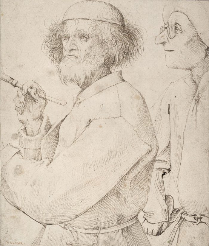 Pieter Bruegel I (1525-1569) Painter and Buyer ca.1565 Albertina, Vienna