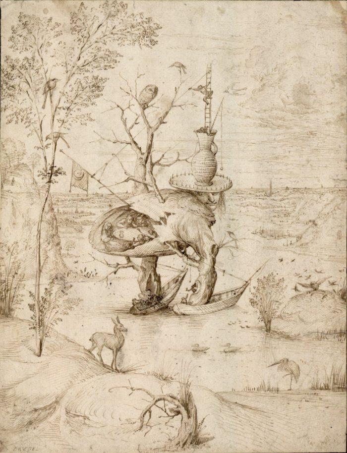 Jheronimus Bosch (ca. 1450-1516) Treeman Albertina, Vienna